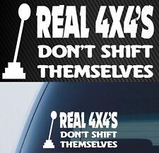 4x4 MANUAL DIESEL PETROL funny DECAL 4WD 200mm