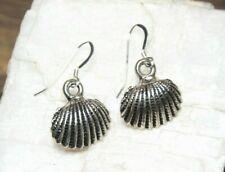 Sea Shell Earrings Ocean Life Sea 925 sterling silver hooks pewter charms