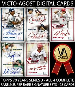 Topps Bunt 70 Years of Baseball S3 ALL 4 COMPLETE SETS - 28 Cards [BUNT APP]