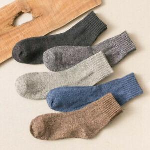 5 Pairs Männer Kaschmir Dicke Warme Weiche Feste Beiläufige Sport Winter Socken