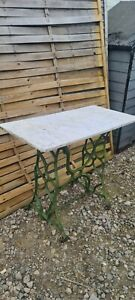 vintage singer sewing machine table With Marble Top