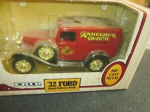VINTAGE BUDWEISER 1932 FORD DELIVERY TRUCK COIN BANK NOS MINT