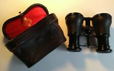 Ross of London antique / vintage opera glasses in original silk lined case