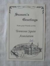 JACK DANIEL SEASON'S GREETINGS FROM YOUR FRIENDS AT THE TN SQUIRE ASSOCIATION
