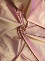 "Gold Pink Iridescent Taffeta Fabric 60"" Width Sold By The Yard"