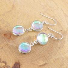 Mercury Mystic Topaz 925 Sterling Silver Drop Earrings Gemstone Jewellery
