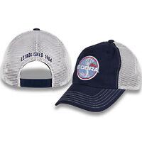 Ford Mustang Hat / Cap - Blue & Khaki W/ Cobra Snake Logo / Emblem (Licensed)