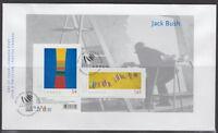 CANADA #2322 ART CANADA JACK BUSH SOUVENIR SHEET FIRST DAY COVER