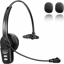 New listing Bluetooth Headset V5.0, Pro Wireless Headset 16Hrs Talktime with NoiseCancelling