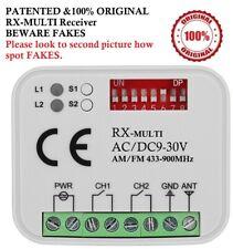 RX-Multi Universal 2-Ch. Receiver. 9V ~ 30V AC/DC 433-900MHz. BEWARE OF FAKES!!!