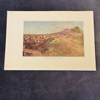 Vintage Book Print - Pompeii - Covered and Uncovered