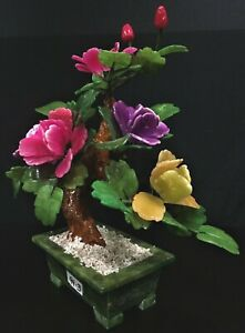 "14"" Mixed Jade Bonsai Flowers (99-3) - Lmt Qty"