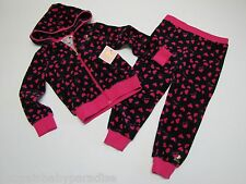 NWT Juicy Couture 2 Pc Athletic Jog Jogging Set Toddler Girls 2T $88