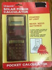 Unisonic Solar Pocket Calculator LC 295, Foldable, Sealed