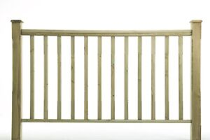 1.2m Stop Chamfered Newell Post, Spindles & HandRail - Timber Decking Balustrade