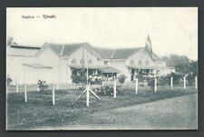 Tjimahi Cimahi Railway Station Flag Java Indonesia 1910