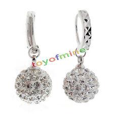 Mujeres cristal pendientes de aro de diamantes de imitación de joyería de boda