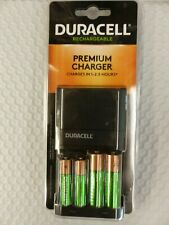 Duracell Premium Charger w/ 2AA 2AAA Rechargeable Batteries