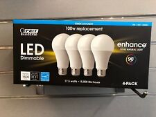FEIT Electric LED light bulbs 5000K Daylight Dimmable 17.5W = 100W 4 PACK
