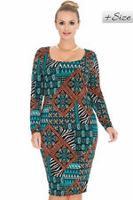 Womens Plus Size Goddiva  Tapestry Print Curve Jersey Dress Size 16, 18,20,22,24