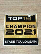 Patch Badge officiel TOP 14 Rugby champion 2021 Stade Toulousain vendeur pro