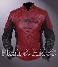 Man of Steel Superman Smallville Tom Welling Padded / Embossed Emblem Jacket