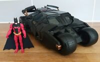 DC Comics Red Batman Dark Knight Batmobile Tumbler large car 1:18 Sounds RARE
