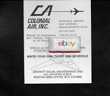 COLONIAL AIR INC NEW BEDFORD MUNICIPAL AIRPORT AERO COMMADER SERVICE 1974 AD