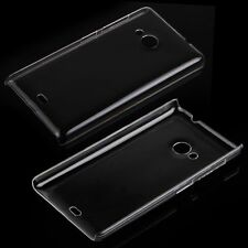 NOKIA Lumia 535 n535 Trasparente Clear Crystal Back Case Cover Skin Guscio