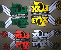 Reflective Fox front fork stickers decals for MTB mountain bicycle race cycling