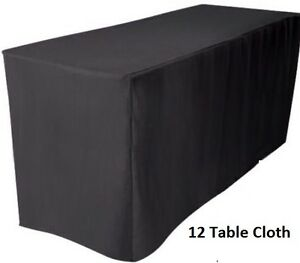 3 x Tablecloths Trestle Table Cloths 6FT FITTED Wedding White Rectangle 183 Cm L