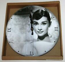 Wall Clock - Audrey Hepburn (Black & White) Design (30cm)