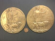 SCOTTISH HIGHLANDERS - BROTHERS - TWO WW1 MEMORIAL PLAQUES
