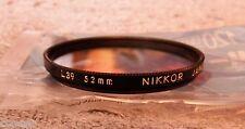 FOTOGRAFIA Filtro Nikkor L39 52mm 1A  JAPAN