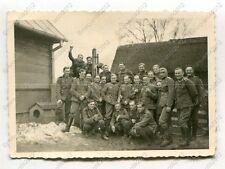 Foto, Gruppenfoto der Ortswachen, Einsatz in Kozienice, Polen, q (W)1390