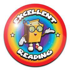 50 Pegatinas De Recompensa Profesor de la escuela 40 mm Brillante Lámina Metálica-Excelente lectura