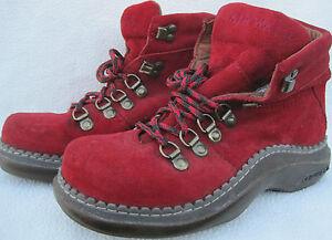 AIR WALK Women's  6  HALF BOOTS  Men's 4  BLOOD RED  SUPER CONDITION L@@K NOW