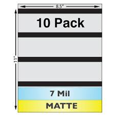 "7 Mil MATTE Full Sheet (8.5"" x 11"") Laminates w/ Magnetic Stripes - 10 Pack"