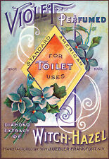 Vintage Perfume Advert Violet Perfumed For Toilet Use Diamond extra Poster Print