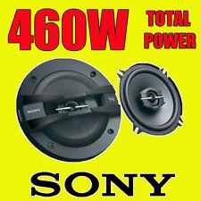 Sony 460 w total 3Way 5,25 pouces 13 cm voiture coaxial porte / plateau haut-parleurs paire noir