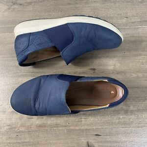 Clarks Unstructured Mens Blue Loafers Comfort Shoes Size 11 W