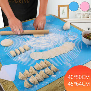 Large Silicone Baking Mat Pastry Rolling Non-Stick Fondant Dough Cookies Cake UK