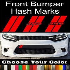 Dodge Charger Hash Marks Front Bumper Decal Hellcat Daytona Scat Pack Challenger