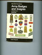 Army Badges and Insignia of World War 2 Book 1 , Rosignoli,  HBdj VG