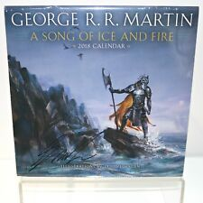 SIGNED by George R. R. Martin A Song Of Ice And Fire 2018 Calendar Eric Velhagen