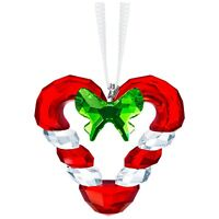 Swarovski Crystal Creation 5403314 Candy Cane Heart Ornament RRP $119