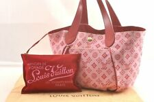 Auth Louis Vuitton Beach Line Cabas Ipanema PM Tote Bag Pink M95984 LV 98743