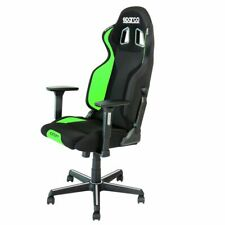Sparco Grip Office Chair Adjustable Gaming Seat Black / Green