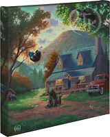 Zac Kinkade Black Bear Bedlam 14 x 14 Gallery Wrapped Canvas