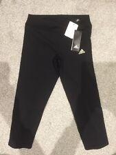 Adidas Response Energy Women's Running/Fitness Leggings Size S Black/Gold BNWT